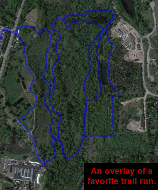 A favorite trail run overlay KML.