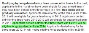 NYRR Guaranteed 2014