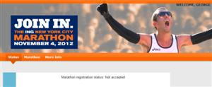 NYRR Not Accepted (again) in 2012