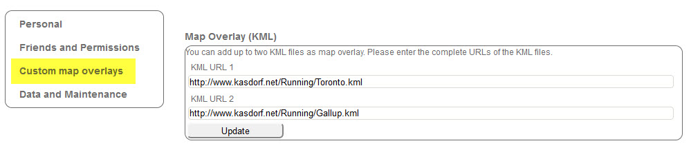 Adding a KML file to Real Time Tracker