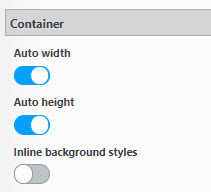 Default window size